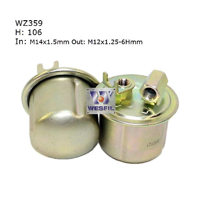 WESFIL FUEL FILTER CIVIC 1991-1996 ACCORD 1989-1993 WZ359