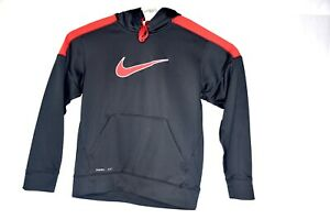 Mens-Nike-Mens-Size-M-Colorblocked-Swoosh-THERMA-FIT-Pullover-Training-Hoodie