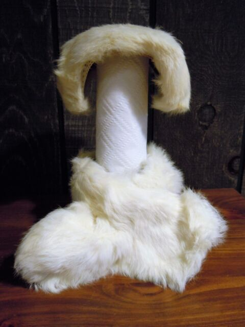 Vintage Girl's White Fur Hat and Scarf Set