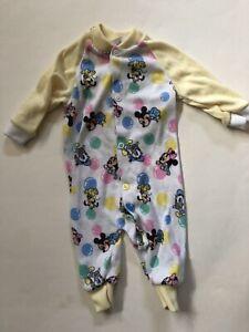 Disney Baby Newborn Minnie Mouse Polka Dot One-Piece Sleeper Suit