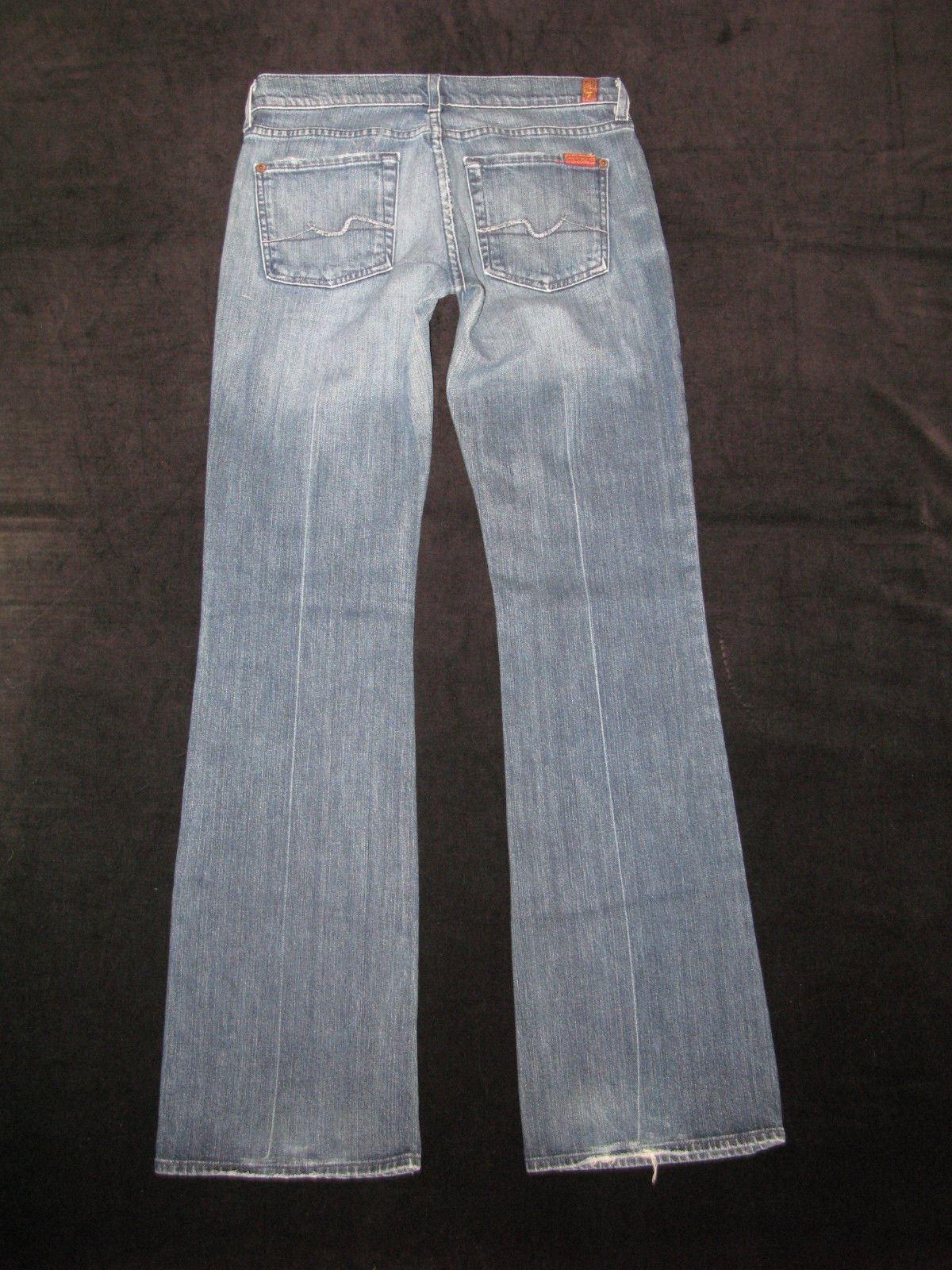 7 Für Alle Damen Bootcut Jeans Sz 32 Mit Stretch Distressed Wash Kleidung & Accessoires
