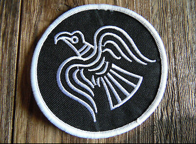 Aufnäher Raven Wikinger Odin rot Patch