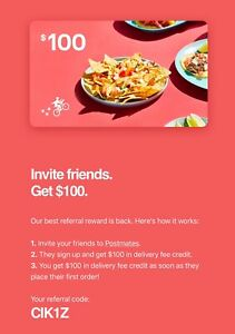 Postmates-100-In-Delivery-Fee-Credit-Discount-Code-For-First-Time-Users-1coupon