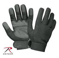 Mechanics Gloves Black/grey Military Mechanics Gloves Spandex Knit Rothco 3468