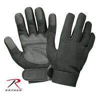 Mechanics Gloves Black/grey Military Mechanics Gloves Spandex Knit Rothco 3468