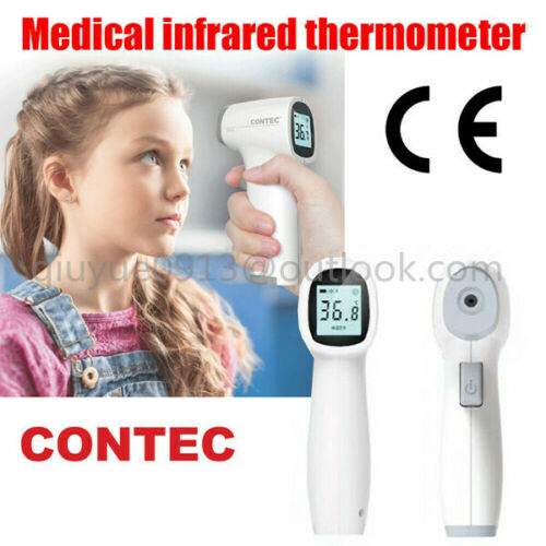 Digital No Touch Digital Infrared Temporal Forehead Thermometer Color LCD Alarm