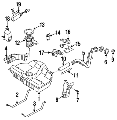 Genuine Nissan Fuel Gauge Level Sending Unit 25060-4S415