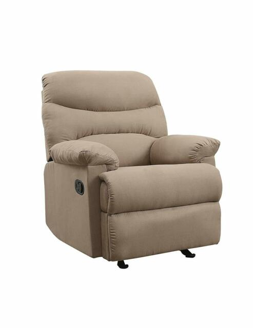 Phenomenal Light Brown Microfiber Recliner Chair Living Room Furniture Pabps2019 Chair Design Images Pabps2019Com