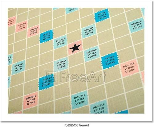 Scrabble Board Art Print Home Decor Wall Art Poster C