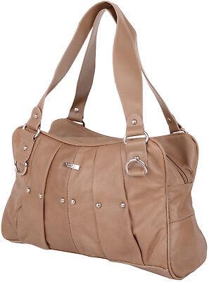 Damen / Damen Echt Leder Schulter Tasche/Handtasche mit Nieten Design