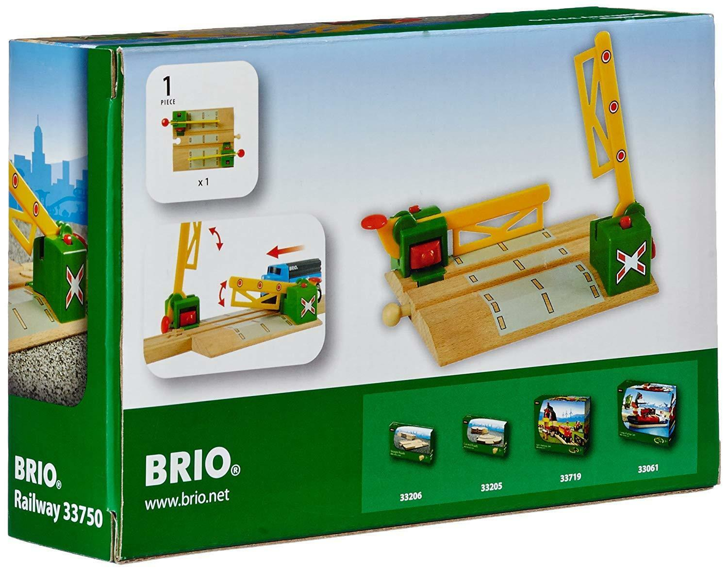 Magnetic Toy Level Crossing Lifting Barrier Brio Wooden Train Set Accessory