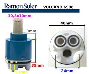 Cartucho de grifo ramon soler 6988 vulcano repuestos para for Repuesto llave monomando