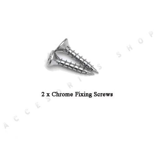 Rond Simple Avertissement Plaque de remplacement en laiton Satin Chrome Poli Finition