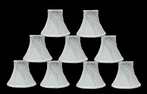 "Urbanest Swirl Pleated Chandelier Lamp Shades,Bell,Off White,3""x6""x5"", set of 9"