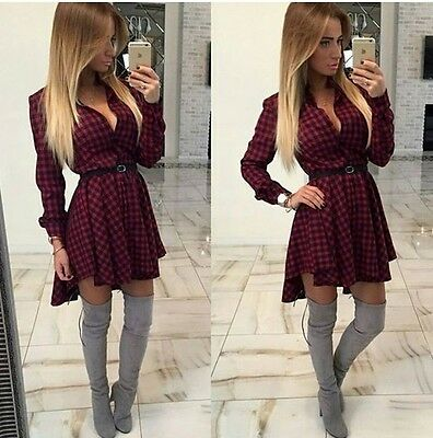 Dovetail Couture Women Sexy Bodycon Long Sleeve Short Pleated Beach Mini Dress &