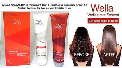 WELLA Straight Permanent Intense Hair Straightening Straightener Perm Cream Kit.