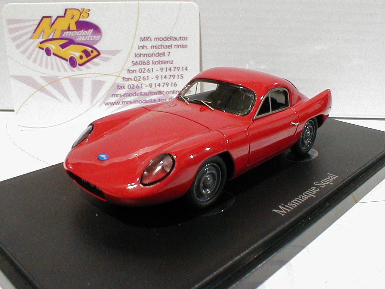 Autocult 05008   mismaque squal Coupe anno di costruzione 1960 in rosso   1 43 Novità