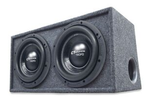 """CT Sounds Dual Tropo 10"""" inch 1200W RMS Subwoofer Bass Package with Ported Box"""