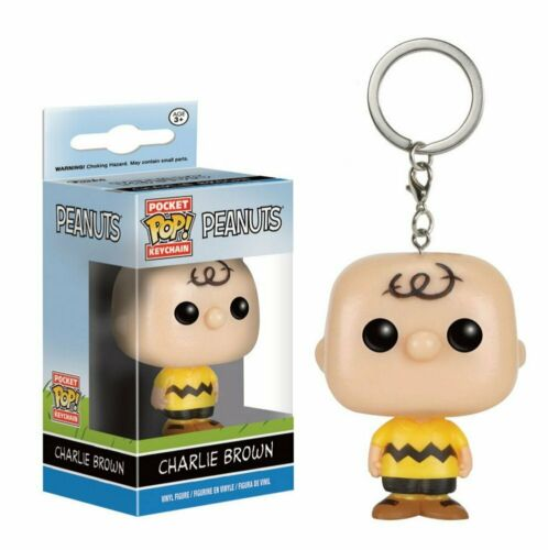 PORTACHIAVI VINILE personaggio-Charlie Brown 9229 Funko Pocket Pop PEANUTS
