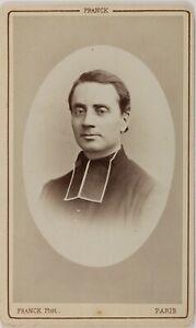 Ecclesiastico Franck Parigi Francia Foto CDV PL52L2n31 Vintage Albumina