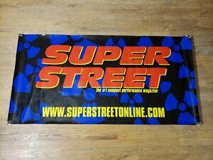 Rare-Vintage-Super-Street-Magazine-Vinyl-Banner-60-034-x30-034-USA