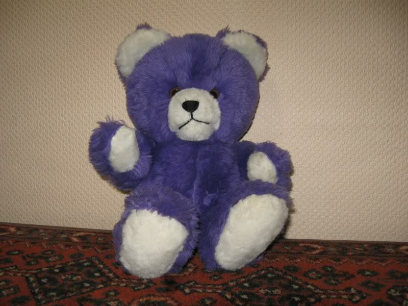 Vintage German Dralon viola & bianca Teddy Bear