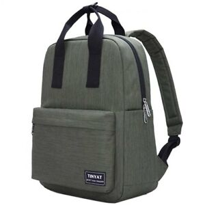 6c940582390a9 Image is loading Tinyat-Backpack-Rucksack-Stylish -School-BookBag-Daypack-Canvas-