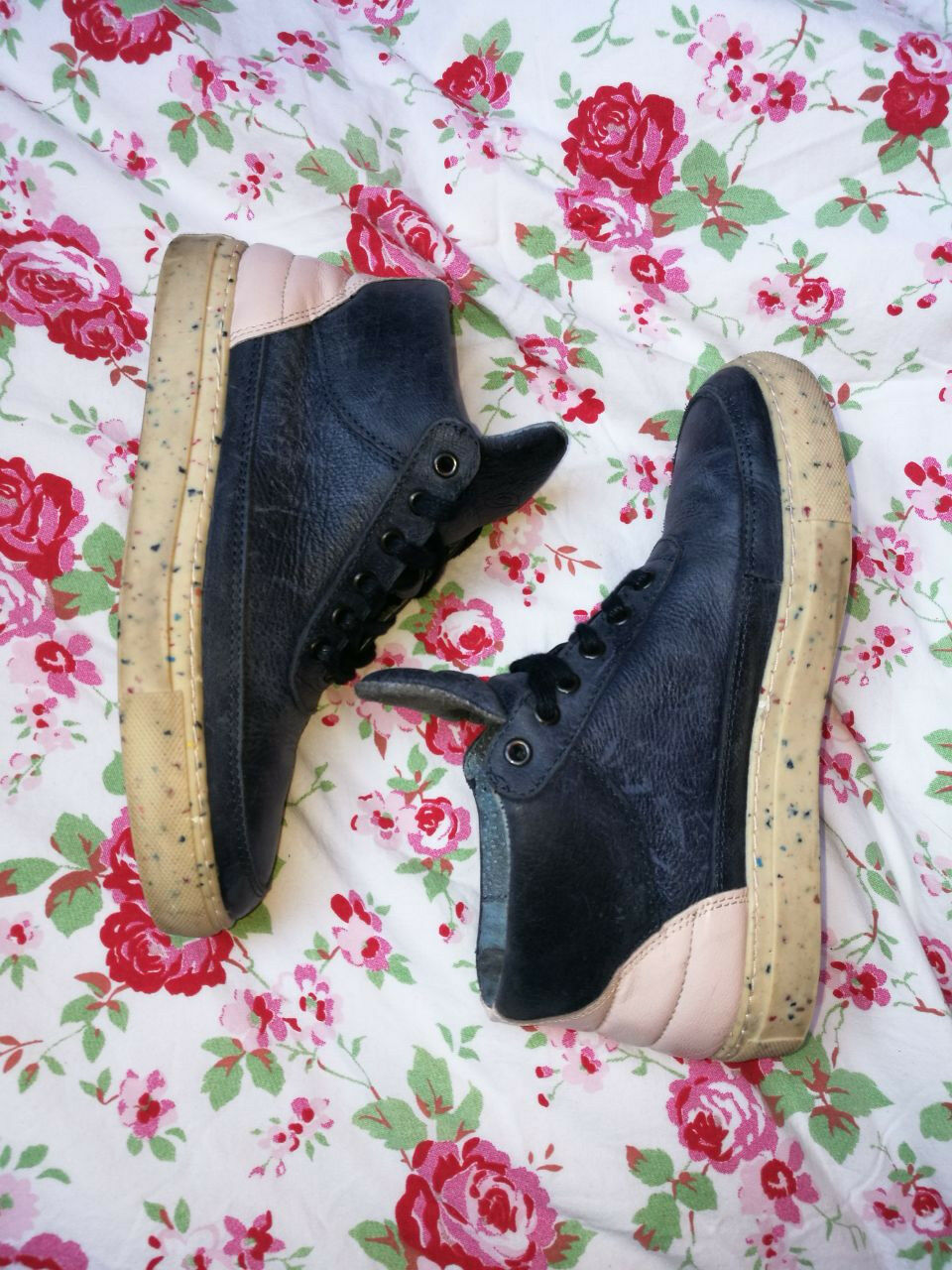 Filling Pieces Sneaker dunkelblau rosa EUR 36 Schuhe bequem luxus hoher NP