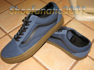 2829ed49e9 Vans Sample Old Skool Gum Sole Dark Denim Black Suede Canvas ...