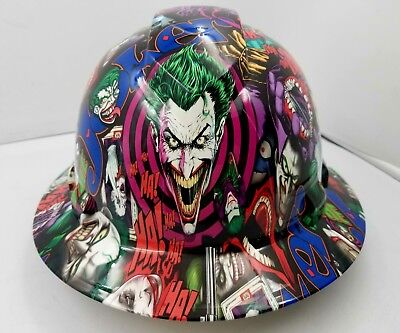 FULL BRIM Hard Hat custom hydro dipped , NEW FULL COLOR JOKER HARLEY NEW |  eBay