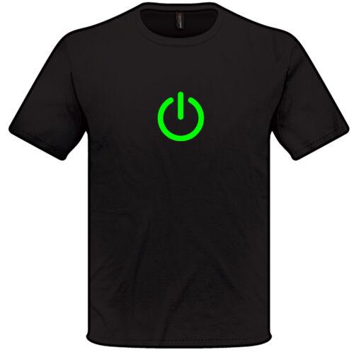 Power On T Shirt S-XXL Mens Womens Big Bang Theory Geek Nerd Techie computer pc