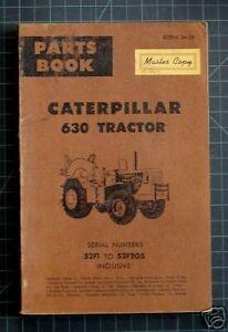 CAT-Caterpillar-630-Tractor-Parts-Manual-Book-Catalog