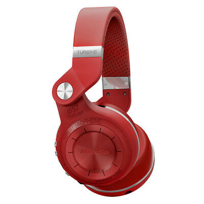 Bluedio T2S Kopfhörer Headphones Wireless Bluetooth Stereo Headset kabellos,rot