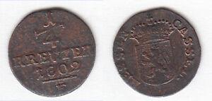 Cu-1-4-Kreuzer-1802-F-Hessen-Kassel-Wilhelm-IX-Schoen-4-ca-1-38-g-stampsdealer