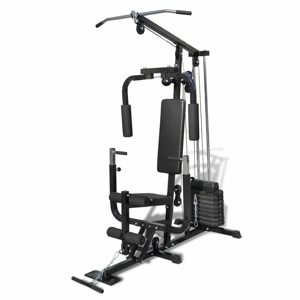 VidaXL Palestra panca multifunzione fitness pesi addominali muscoli allenamento