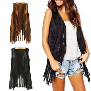 Women-Autumn-Winter-Faux-Suede-Ethnic-Sleeveless-Coats-Tassels-Fringed-Vest-GN
