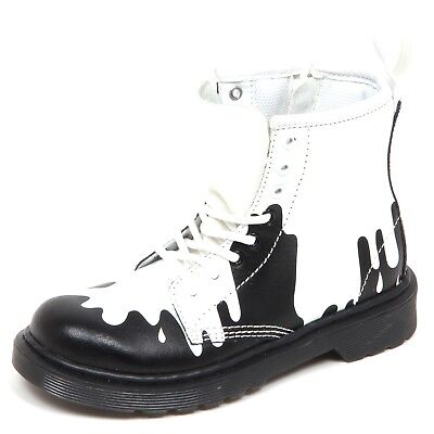 anfibio bimbo DR MARTENS nero//grigio boot shoe kid D3848 without box