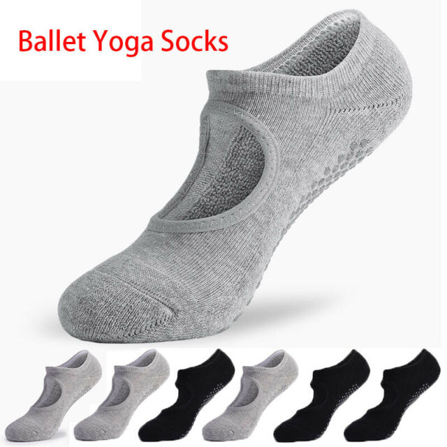 Women Ladies Non-Slip Grip Yoga Toe Socks Pilates Barre Ballet Dance Gym Sports