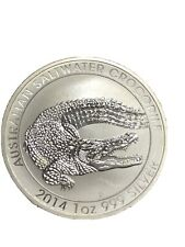 2014 AU Australia 1 oz Silver Saltwater Crocodile $1 MS-70 NGC