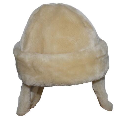 Marie Chantal beige en peau de mouton fourrure chapeau taille s 3 mois neuf sans étiquette SP £ 50