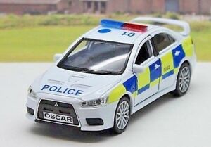 PERSONALISED-PLATE-Mitsubishi-Lancer-Evolution-X-Police-Car-Boys-Toy-Boxed-New