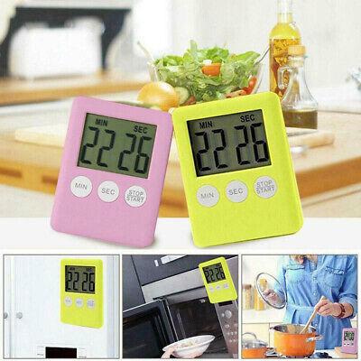 LCD Digital Timer Kurzzeitmesser Küchenwecker Stoppuhr Clock Magnet Eieruhr
