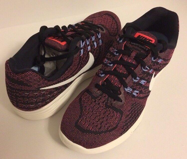 Nike Women's Lunartempo 2 Running Black White-Hot Punch Punch Punch Size 10.5 818098-006 1f2b3e