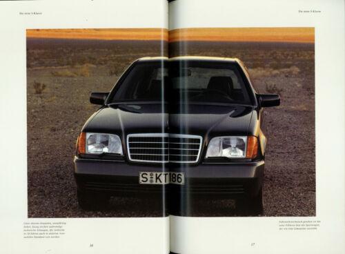 Mercedes S-Klasse Prospekt 1991 1//91 W 140 56 S Autoprospekt 600SE 500SE 400SE