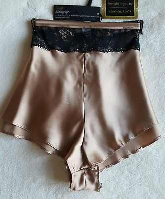 NEW M/&S AUTOGRAPH ROSIE LUXURIOUS SILK /& LACEcFRENCH KNICKERS SIZE 20 IN GOLD