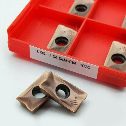 10x R390-170408M-PM 1030 Fräser Hartmetall Einsätze CNC Drehbank Zubehör
