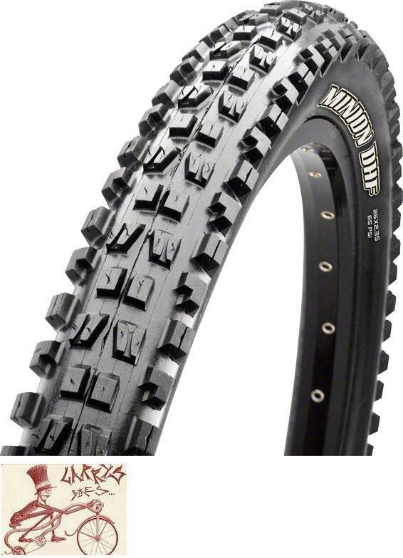 MAXXIS MINION DHF 120TPI  26  X 2.8  TRIPLE COMPOUND MAXXTERRA EXO TUBELESS TIRE