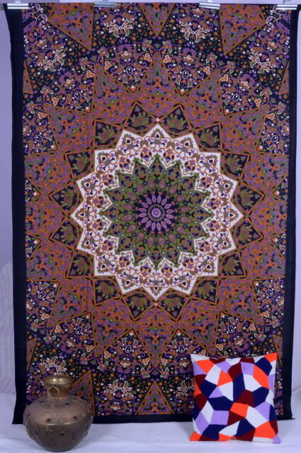 Indian Star Hippie Wall Hanging Psychedelic Mandala Tapestry Throw Ethnic Decor