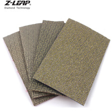 4pcs Diamond Hand Polishing Pads Sanding Paper Abrasive Tool For Glass Ceramics