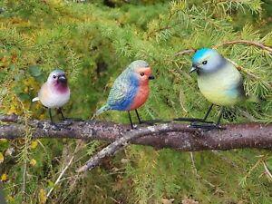 3pc-Realistic-Bird-Set-Garden-Ornaments-Decoration-sculpture-christmas-Xmas-Gift